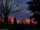 Images, 2007, Mount Hood sunrise, from Vancouver, Washington