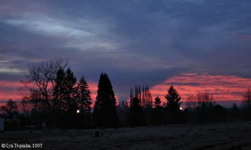 Image, 2007, Mount Hood Sunrise, click to enlarge