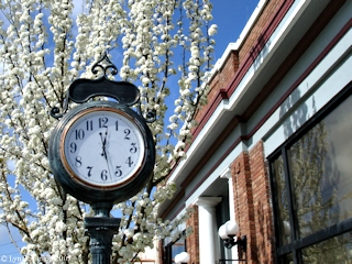 Image, 2007, Clock, Pioneer Street, Ridgefield, Washington, click to enlarge