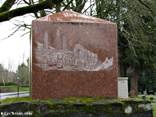 Image, 2009, Fishers Cemetery, Fishers Landing, Washington, click to enlarge