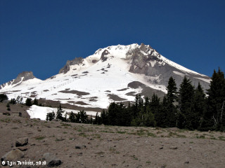 Image, 2010, Mount Hood from Timberline, Oregon, click to enlarge