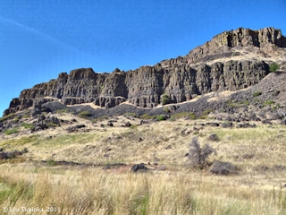 Image, 2011, Basalts near Horsethief Butte, Washington, click to enlarge