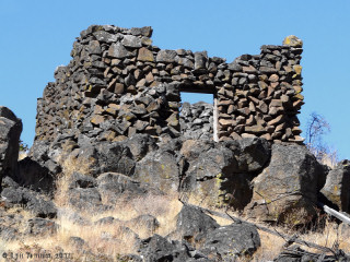 Image, 2011, Stone House near Horsethief Butte, Washington, click to enlarge