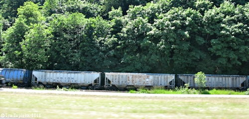 Image, 2011, Union Pacific boxcar, click to enlarge