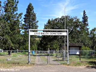 Image, 2012, Lyle-Balch Cemetery, Lyle, Washington, click to enlarge