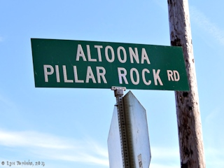 Image, 2013, Sign, Altoona-Pillar Rock Road, Washington, click to enlarge