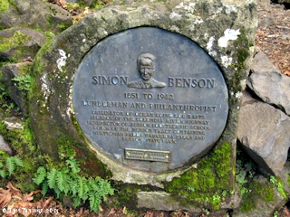 Image, 2013, Simon Benson plaque, HCRH, Oregon, click to enlarge