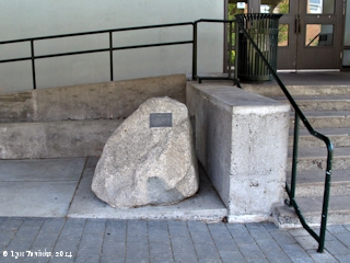 Image, 2014, Granitic Erratic, Lewis and Clark College, Portland, Oregon, click to enlarge