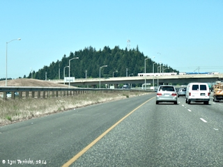 Image, 2014, Rocky Butte, a Boring Lava Cone, as seen from Interstate 205, click to enlarge