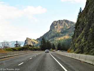 Image, 2014, Mitchell Point from Interstate 84, click to enlarge