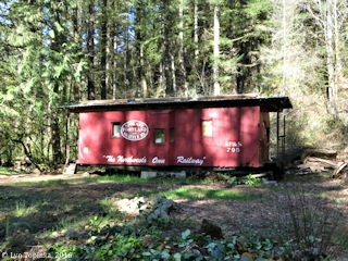 Image, 2016, SP&S Caboose near Lucia Falls, Washington, click to enlarge