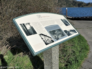 Image, 2016, Broughton Flume Information Sign, Drano Lake, Washington, click to enlarge