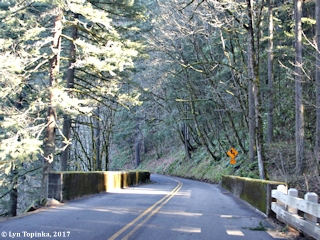 Image, 2017, Historic Columbia River Highway, Bridal Veil Bridge, Oregon, click to enlarge